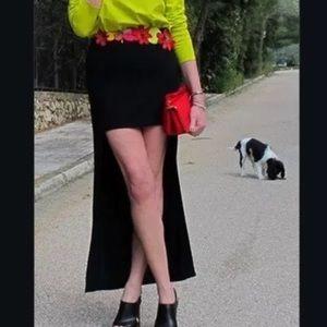 Zara Skirts - Zara black hi-low skirt. Size M